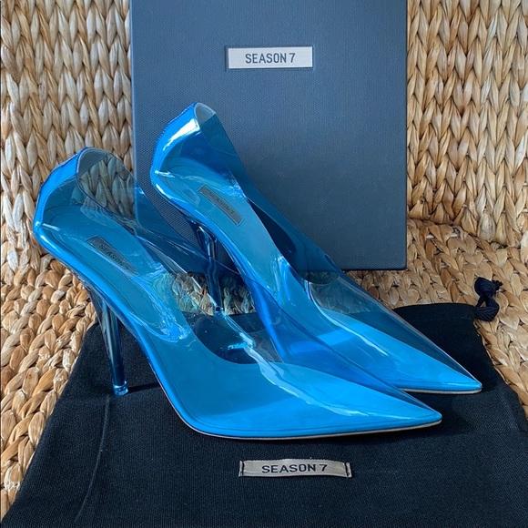 81becdc9aea9 NIB Yeezy Season 7 Blue PVC Pump 39 or US 8.5 💙
